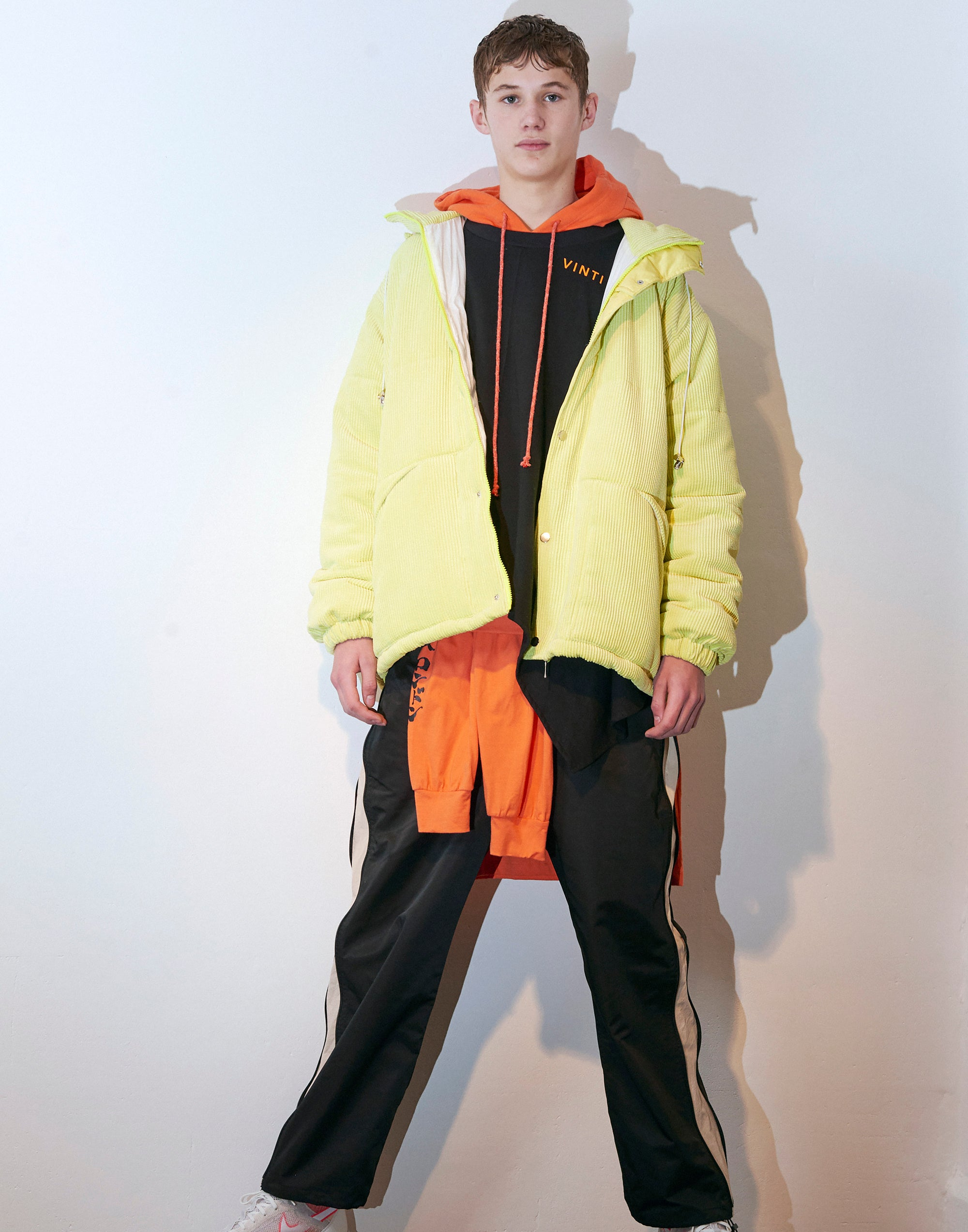 Vinti Andrews Puffer Jacket Yellow Cord