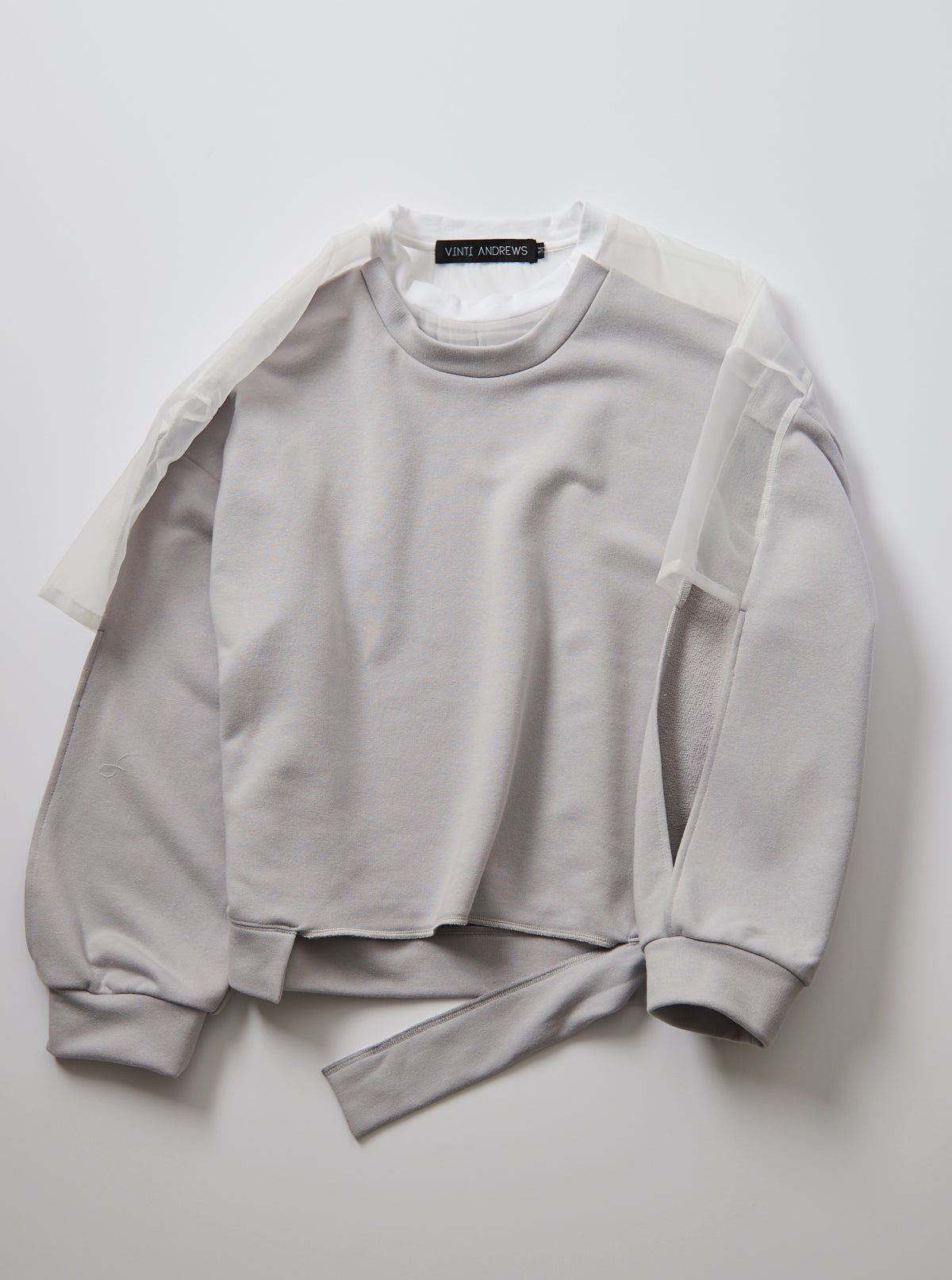 Vinti Andrews Organza T Shirt Sweater