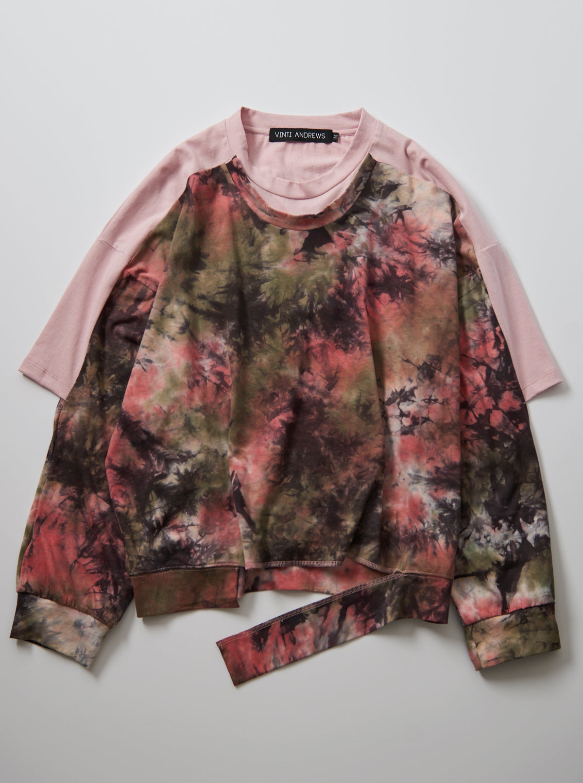 Vinti Andrews Tie Dye T Shirt Sweater