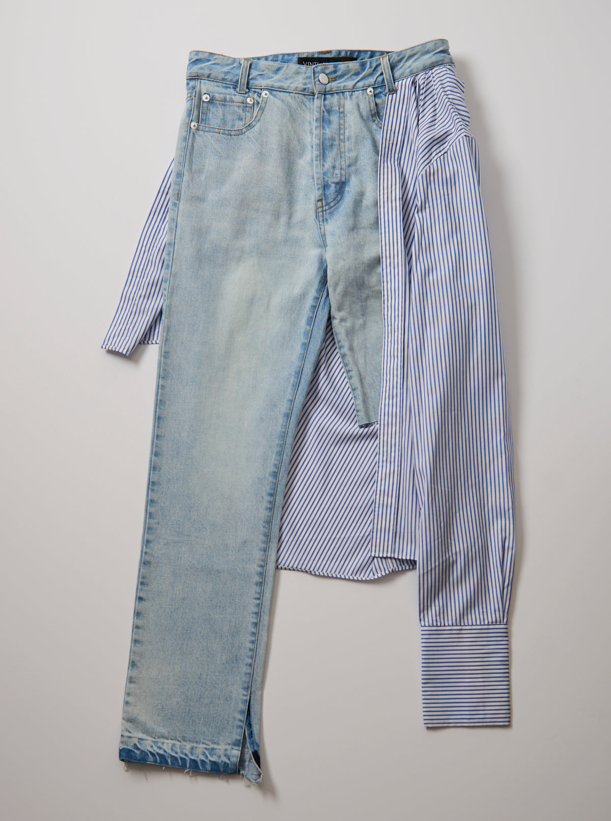 Stripe Shirt Jeans