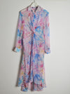 Vinti Andrews Tie Dye Twist Shirt Dress