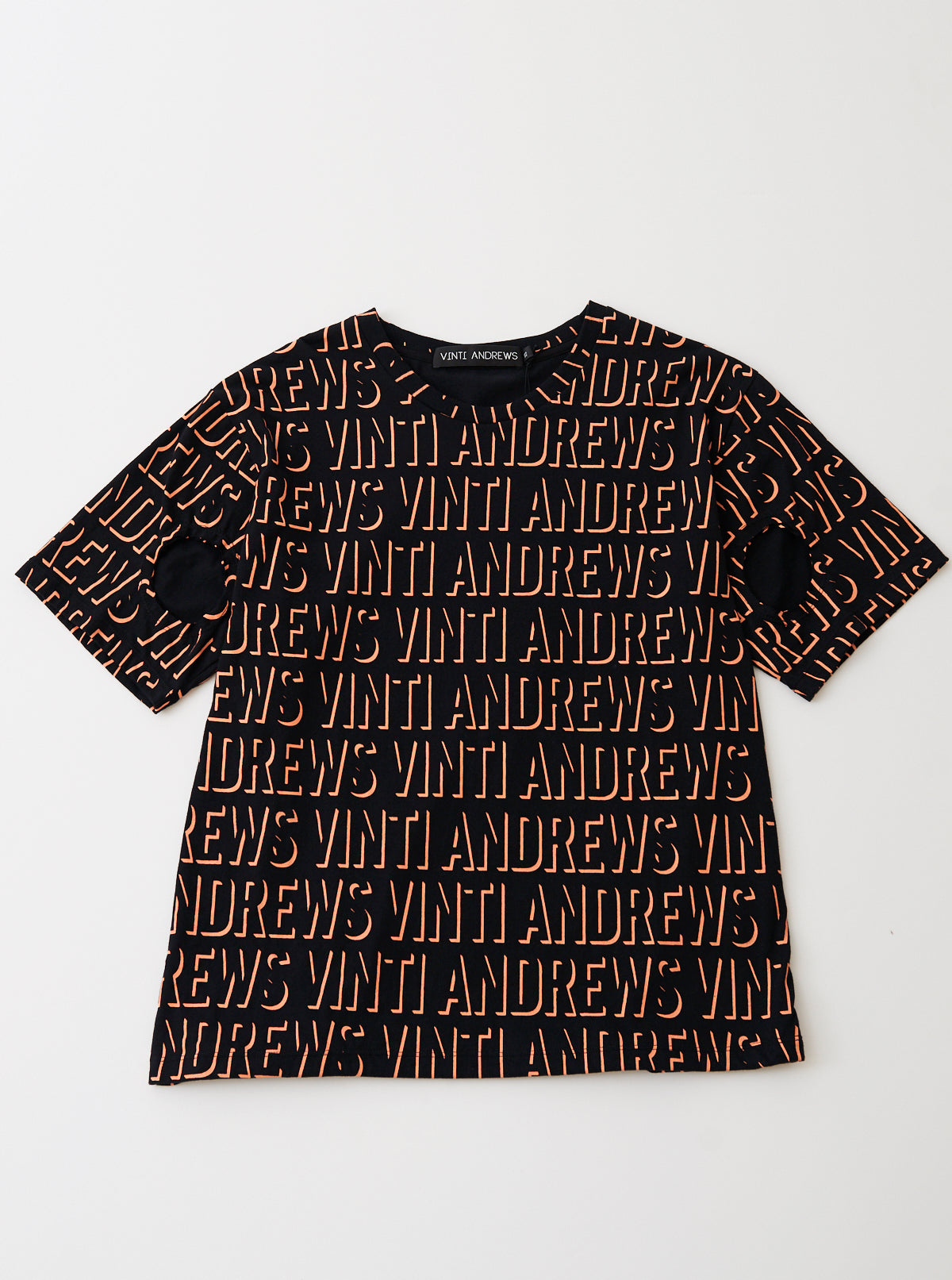 VINTI ANDREWS Orange Printed T-Shirt