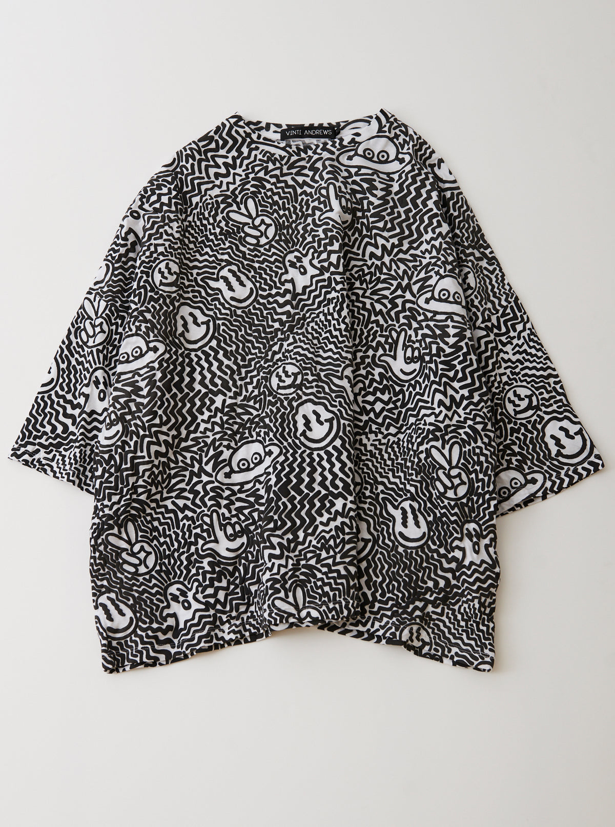 Spaced Out Print Oversize T-Shirt