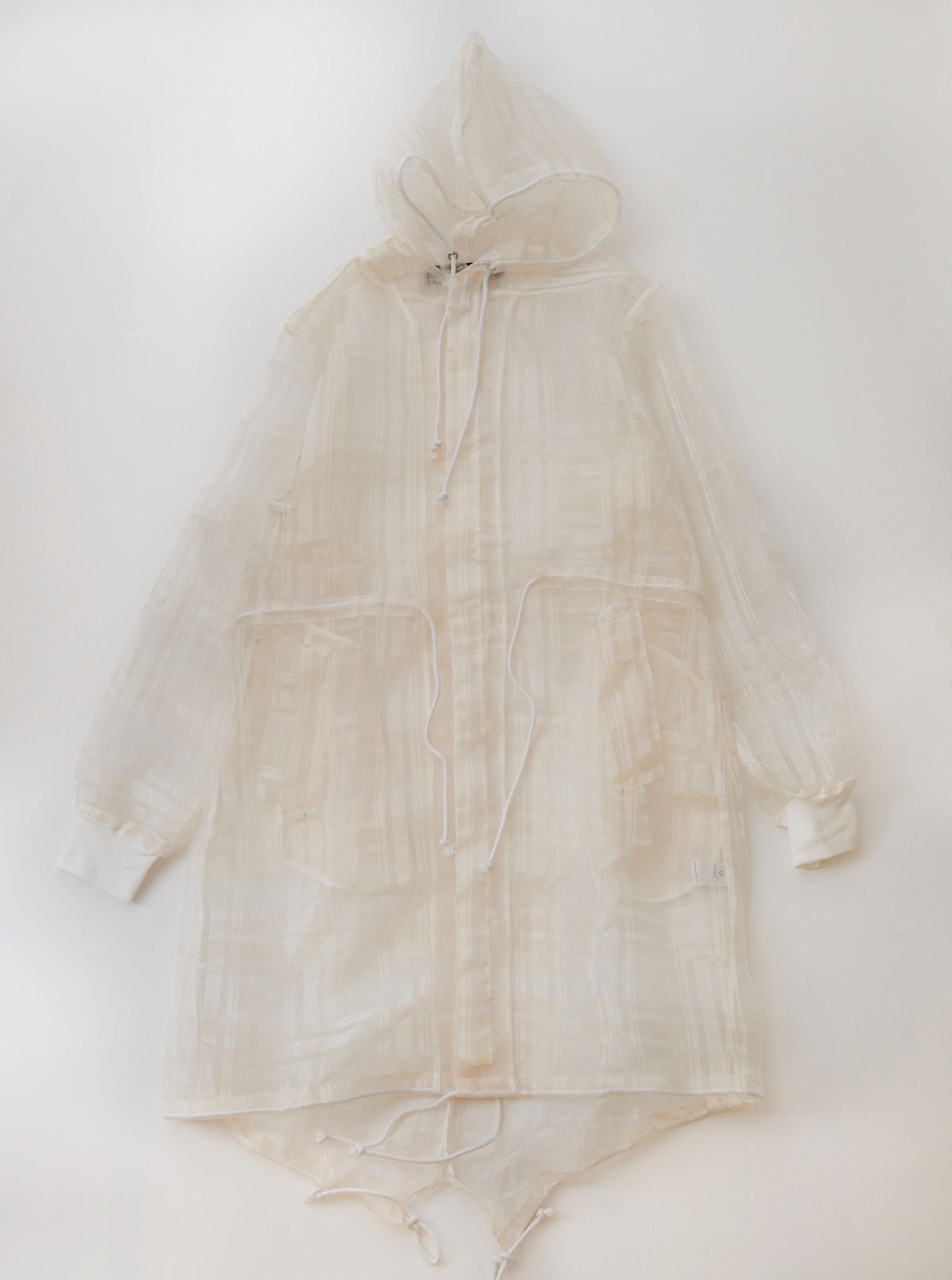 Plaid Organza Parka
