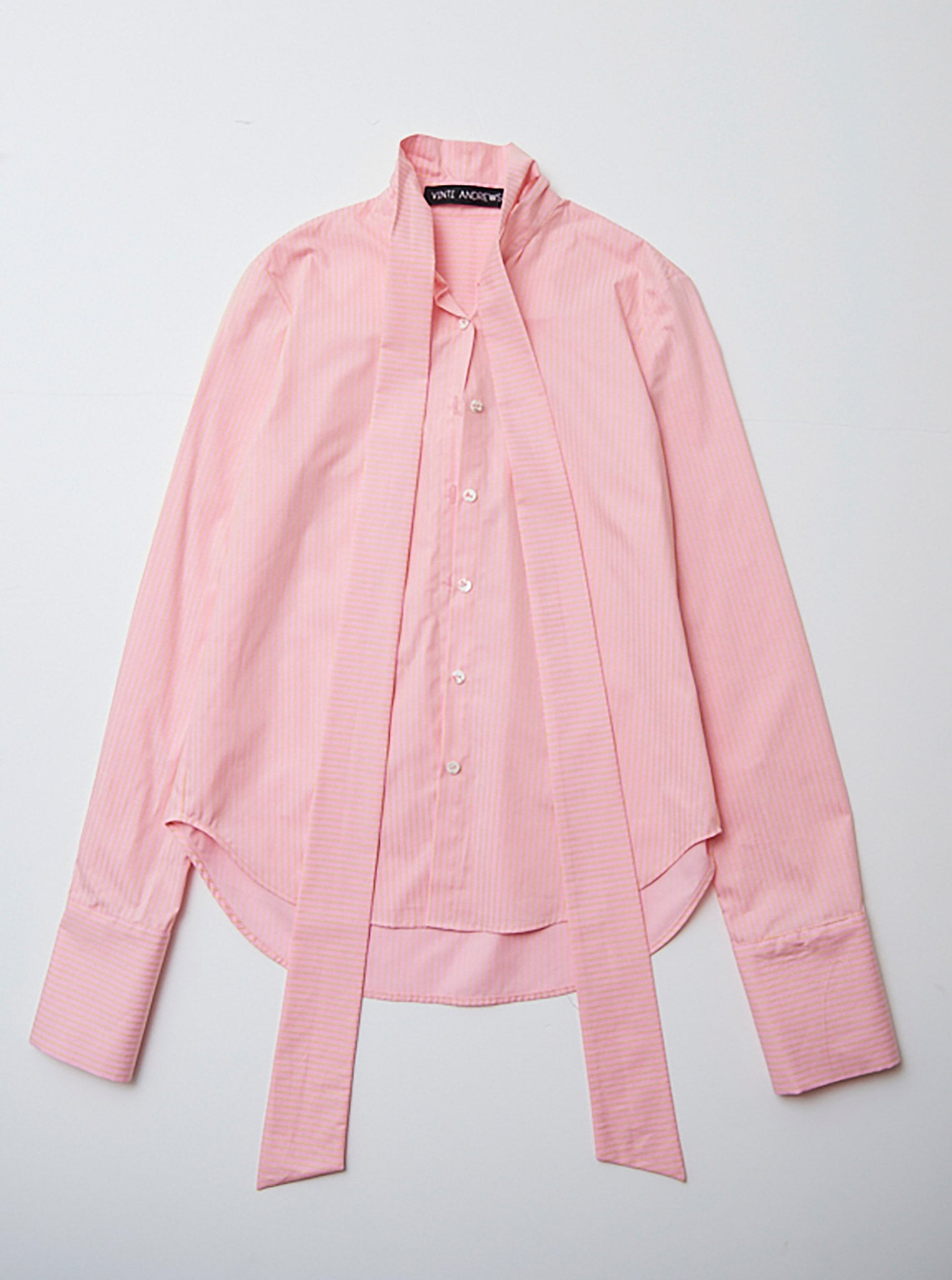 Vinti Andrews Extended Collar Shirt Pink