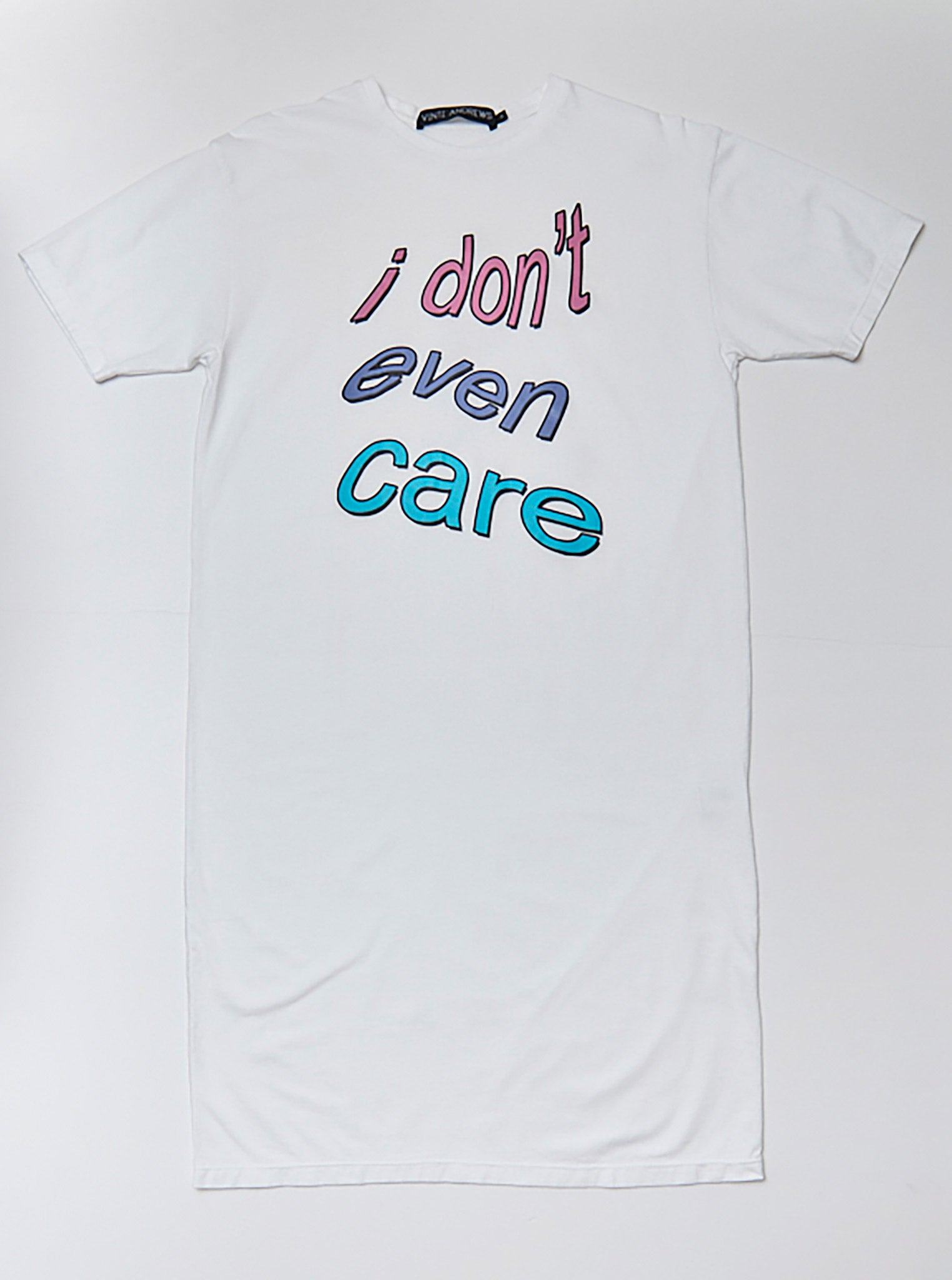 Vinti Andrews I Don't Even Care Printed T-dress