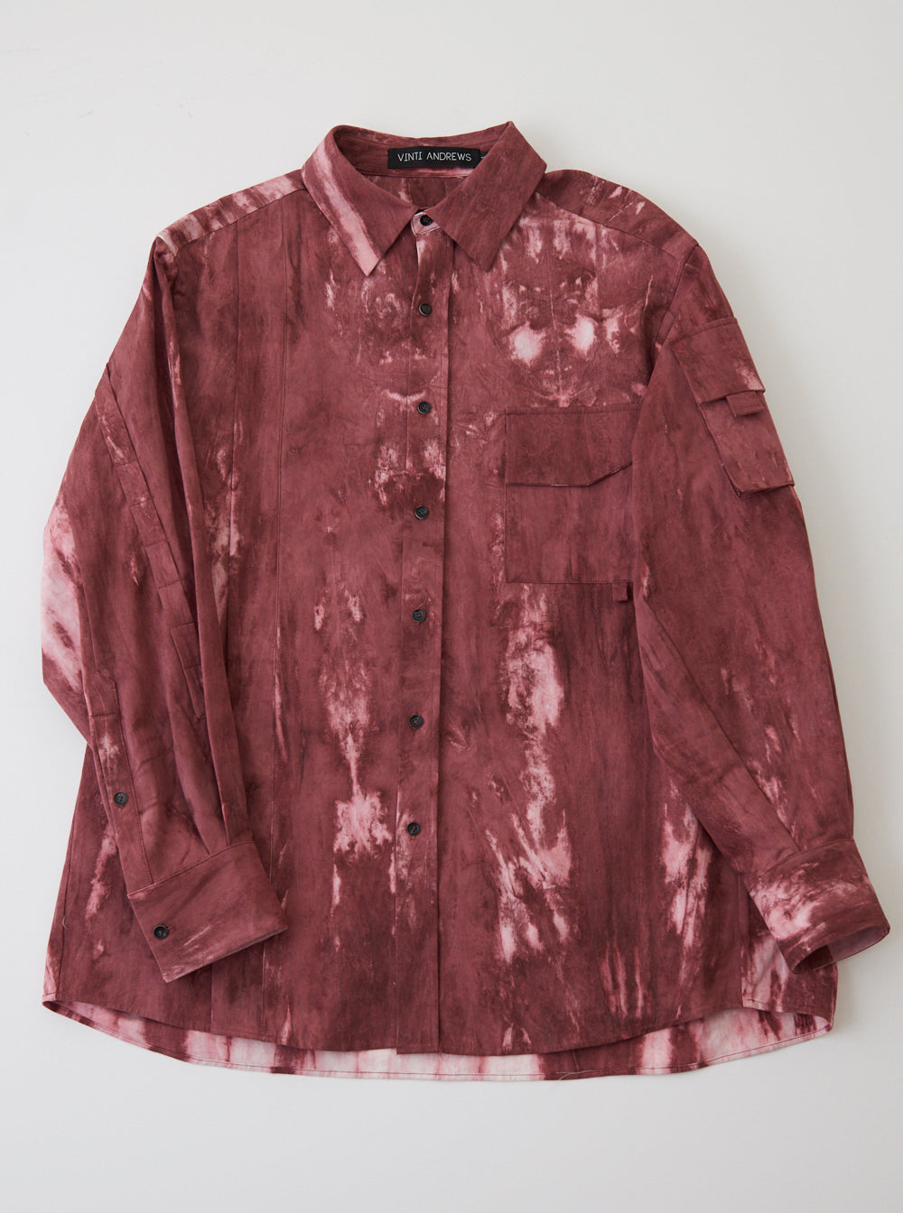 Vinti Andrews Arm Pocket Shirt Tie Dye