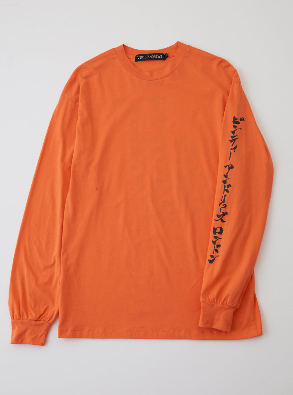 Vinti Andrews Printed Long Sleeves T-Shirt Orange