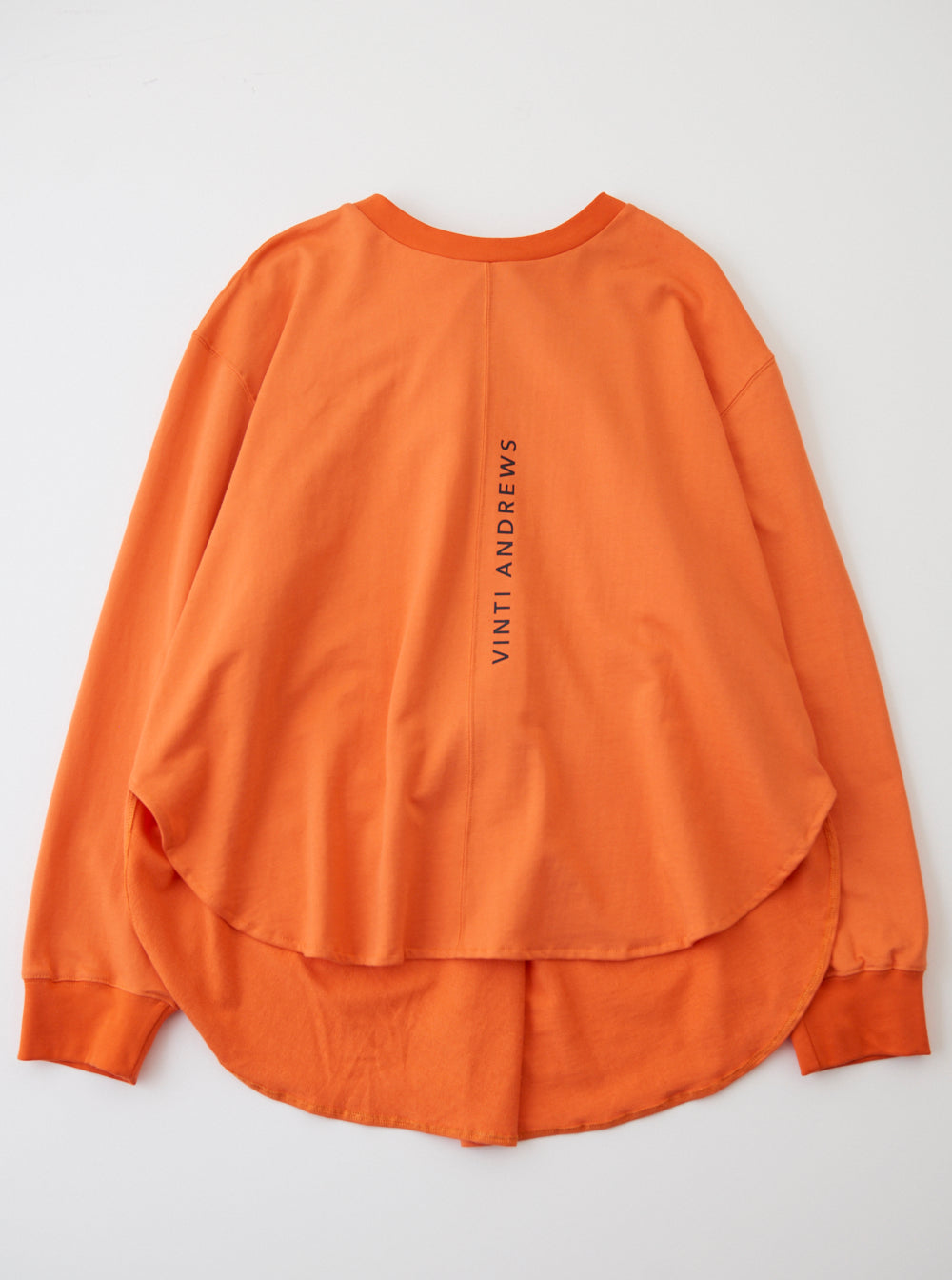 Vinti Andrews Drape Sweatshirt Orange