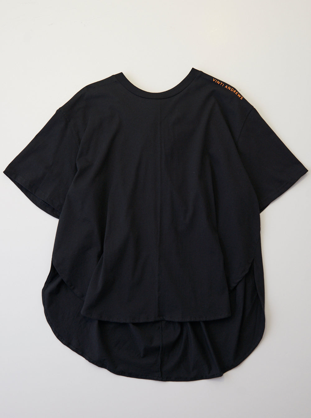 Vinti Andrews Drape Back T-Shirt Black