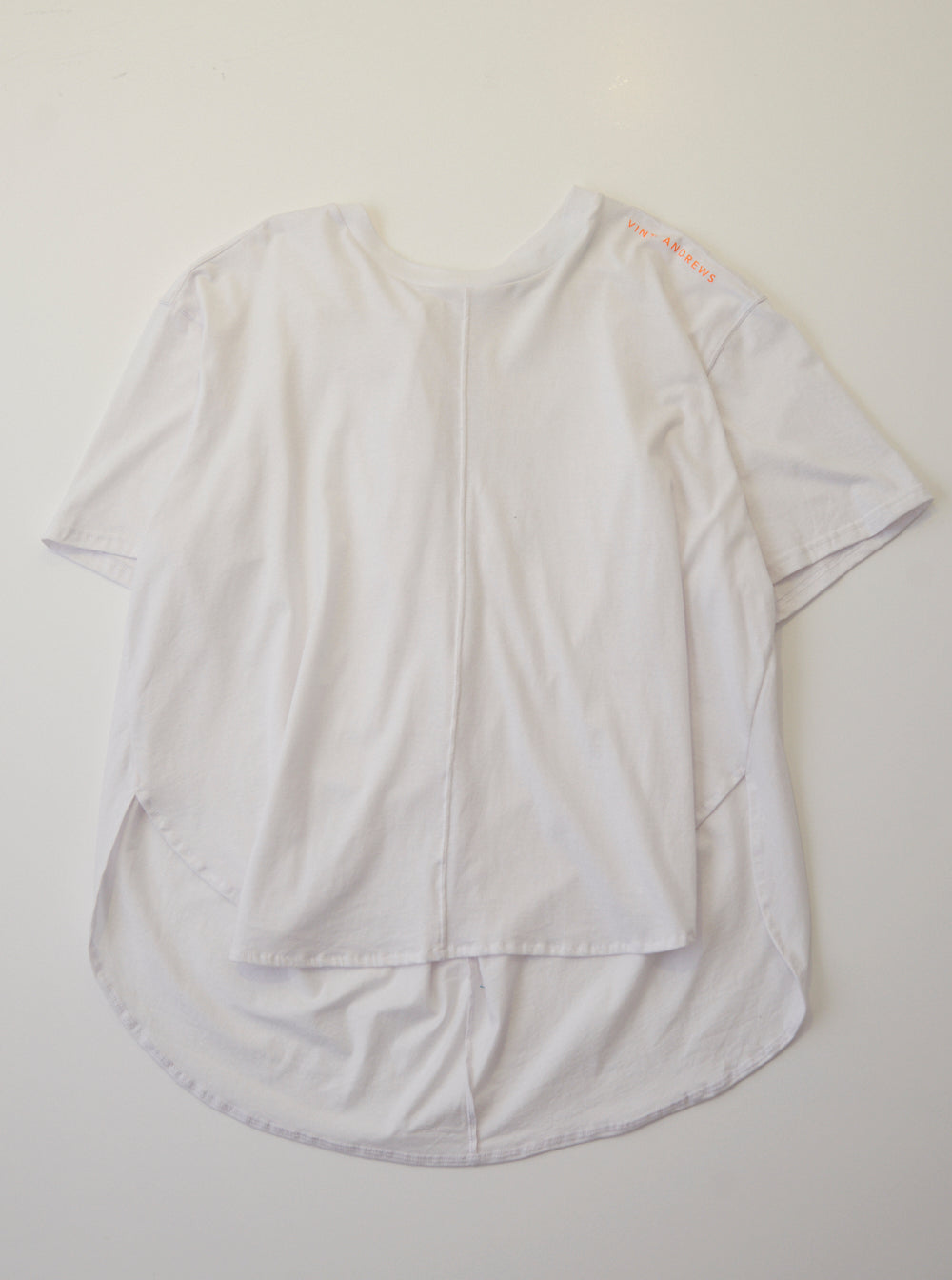 Vinti Andrews Drape back T-Shirt White