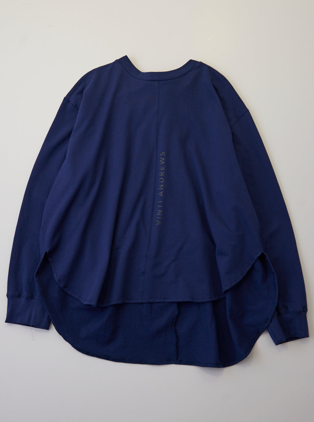 Vinti Andrews Drape Sweatshirt Navy