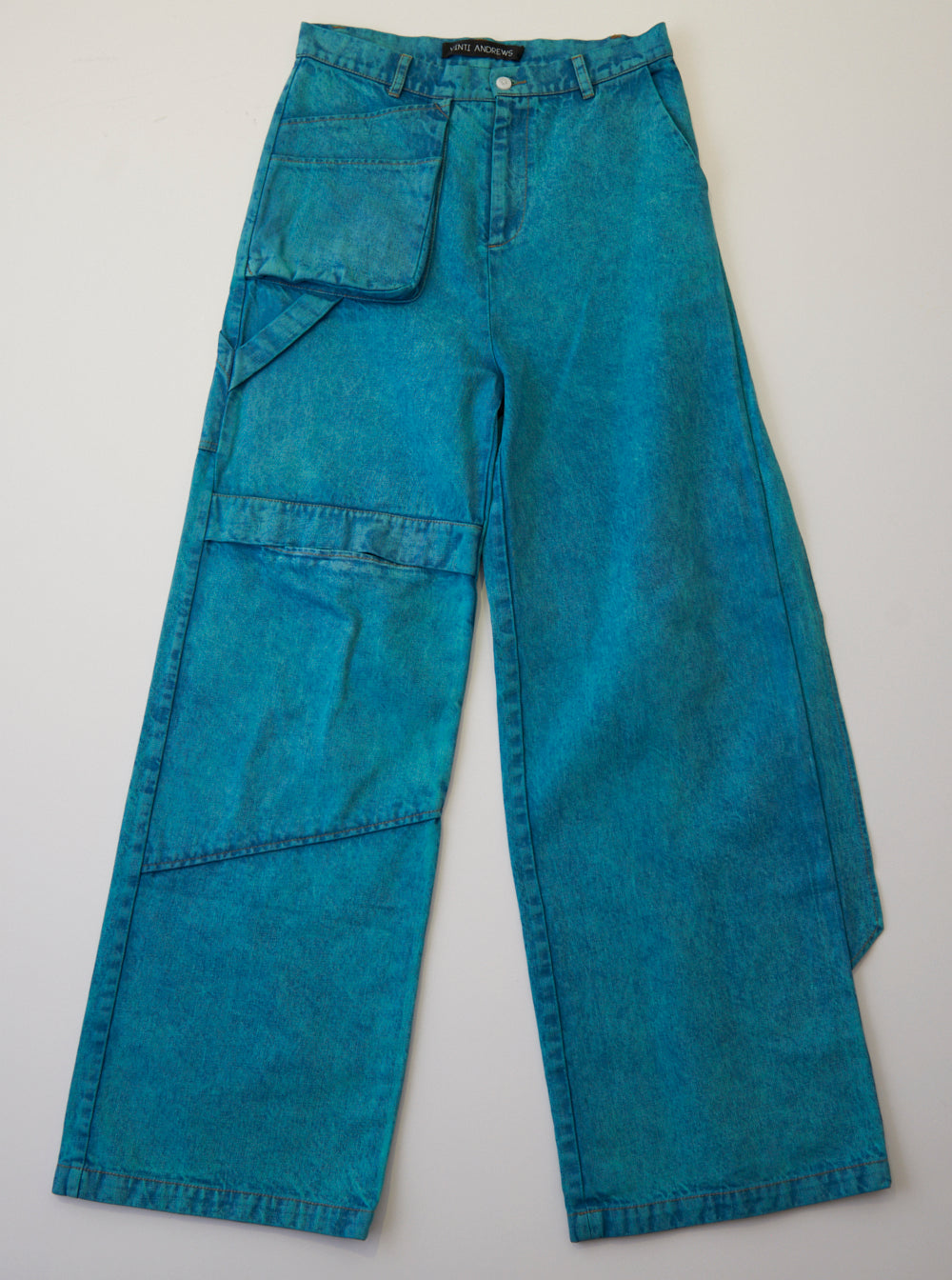 Vinti Andrews Loose Trousers Over Dyed Green