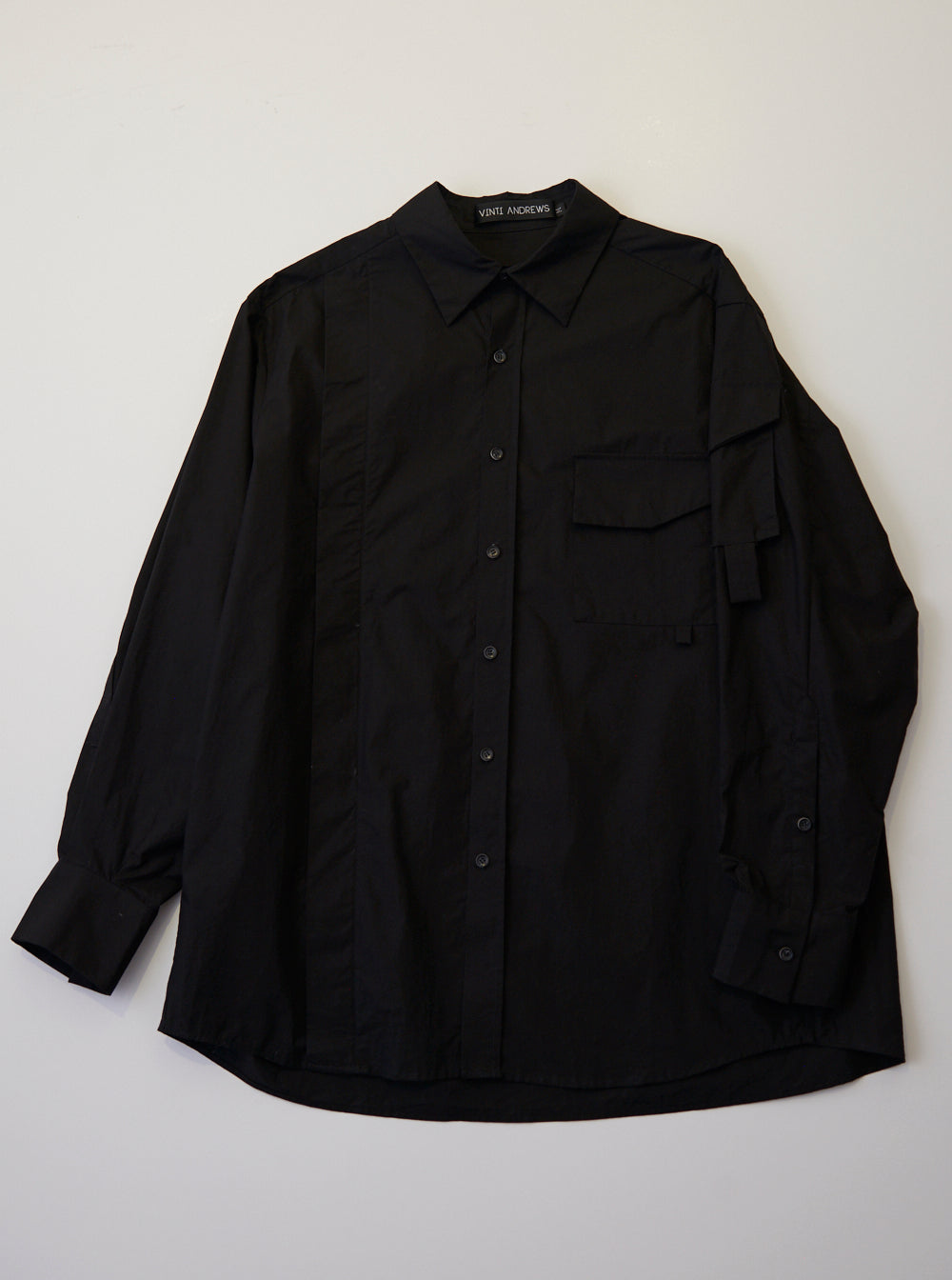 Vinti Andrews Arm Pocket Shirt Black