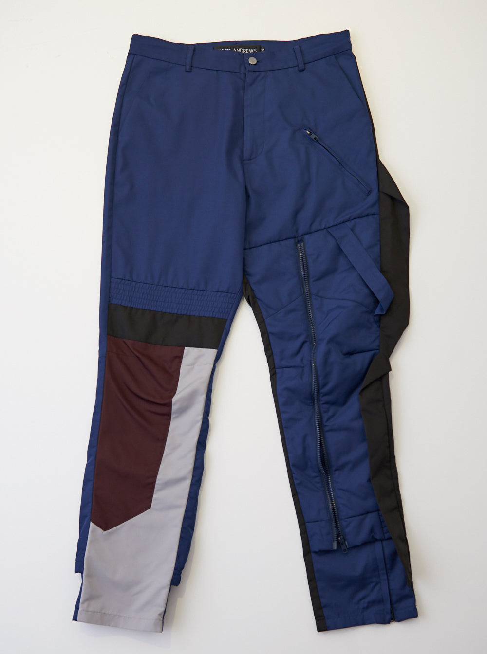Vinti Andrews Zips Trousers Poly Navy Mix