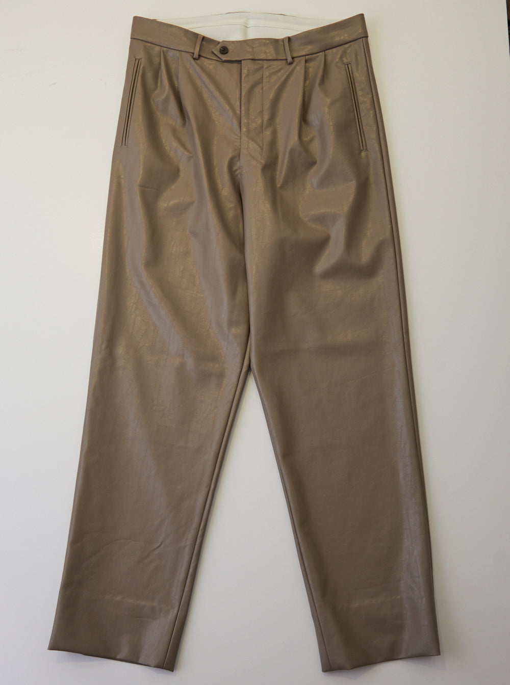 Vinti Andrews Tailor Trousers Faux Leather Grey