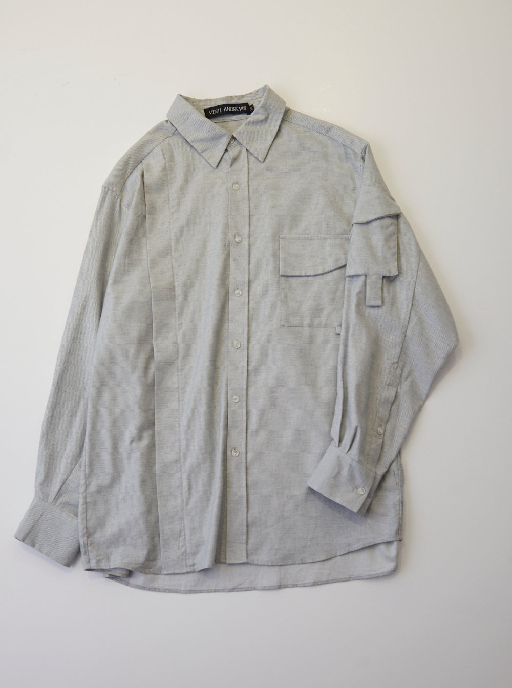 Vinti Andrews Arm Pocket Shirt Light Grey