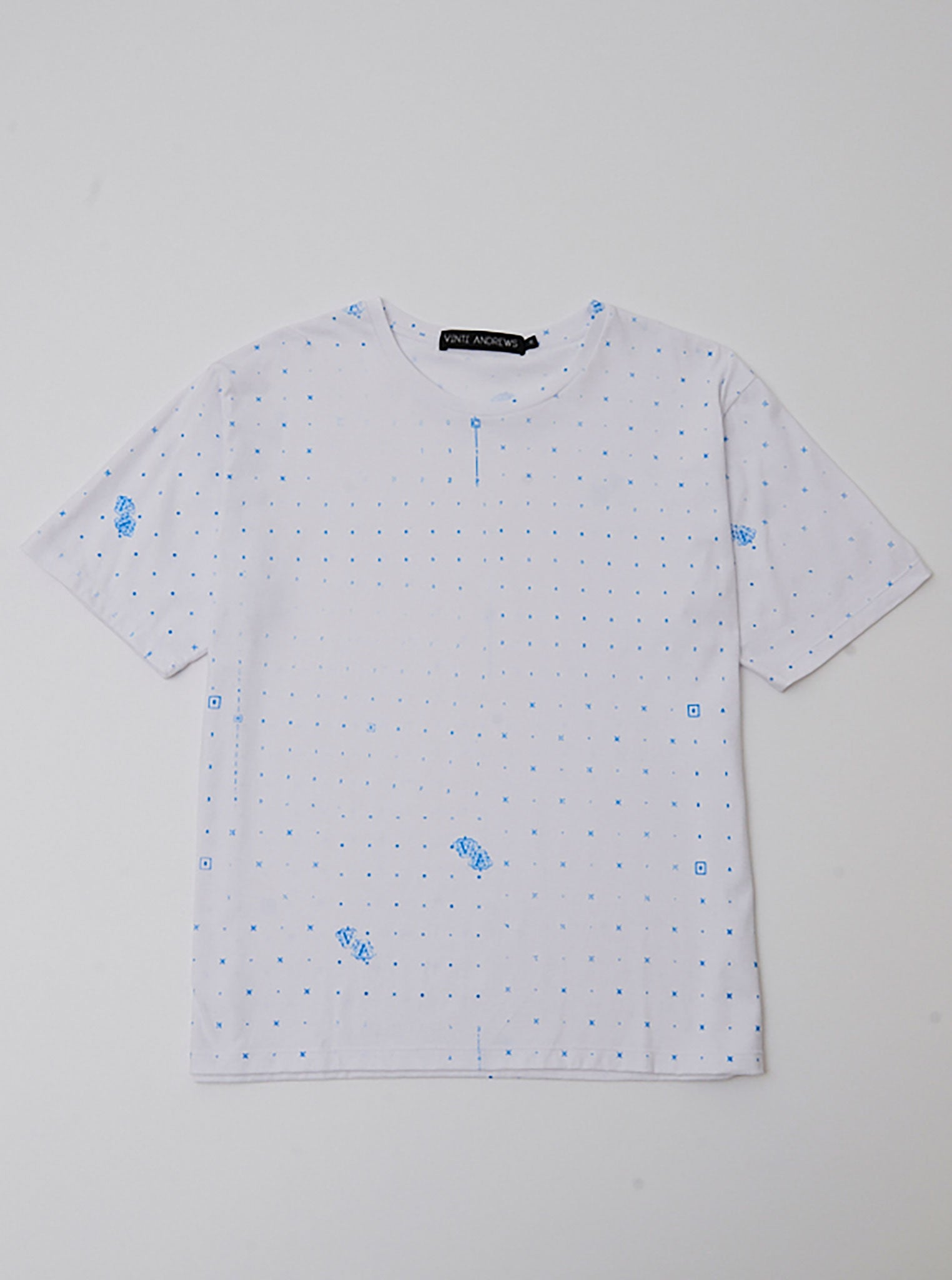 Vinti Andrews VA.X Blue Printed T-Shirt