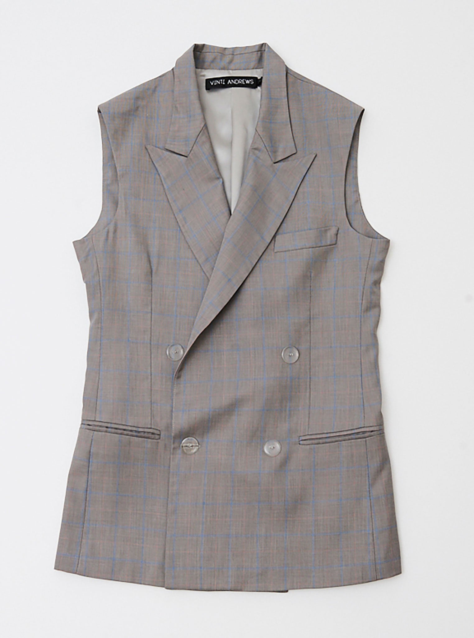 Vinti Andrews Sleeveless Tailor Jacket