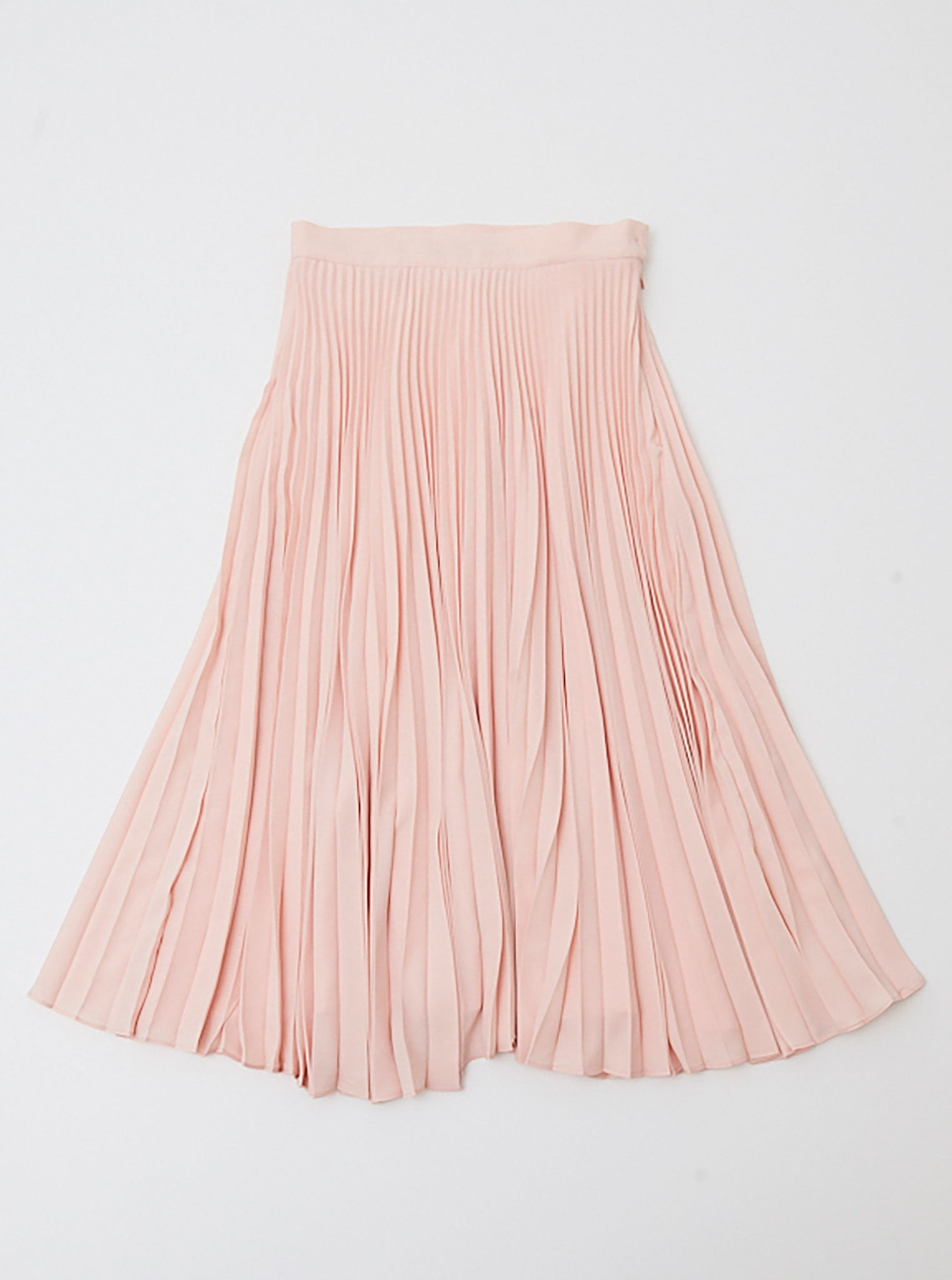 Vinti Andrews Blush Pink Pleated Skirt
