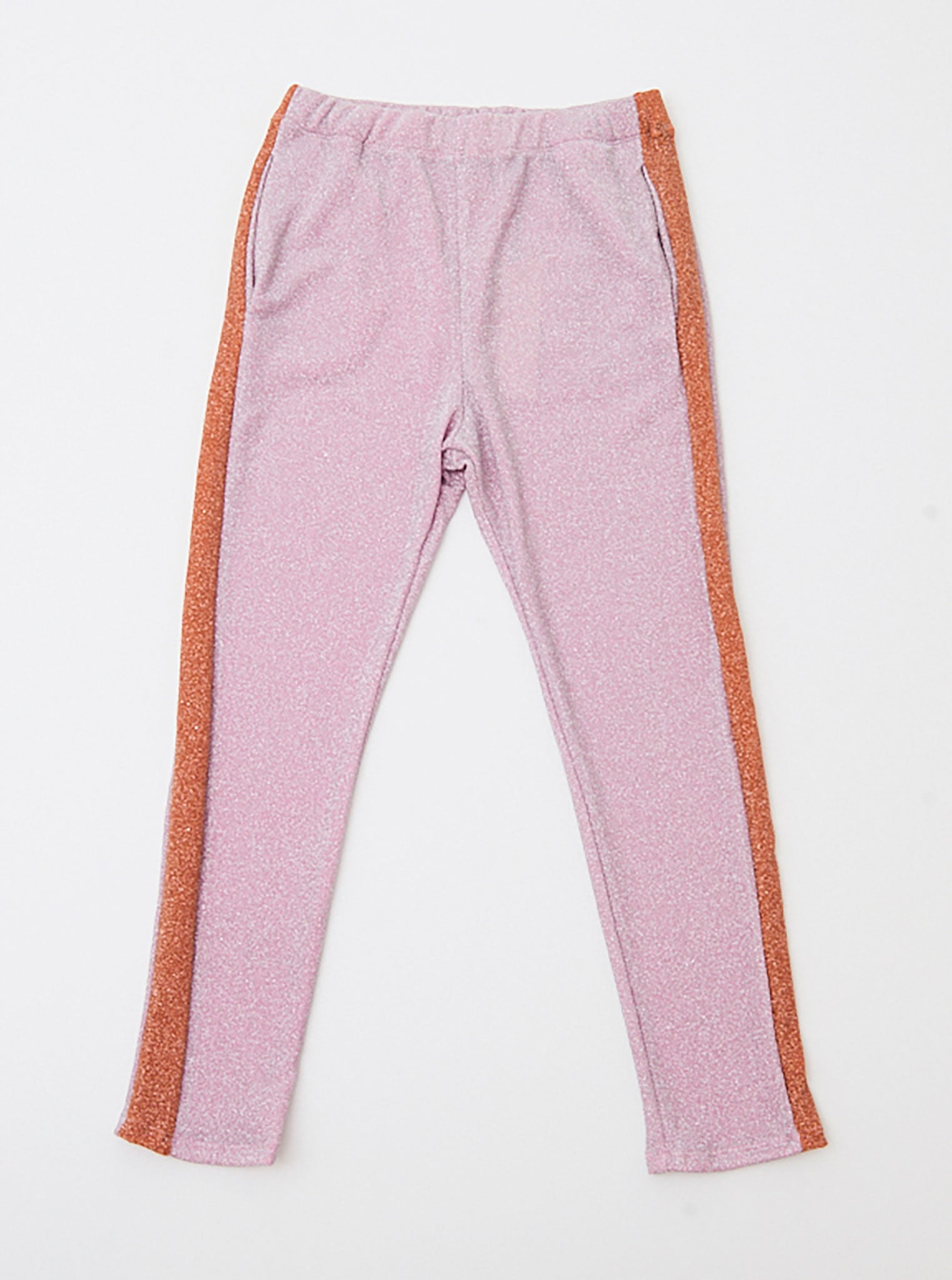 Vinti Andrews Metallic Pink Track Pants