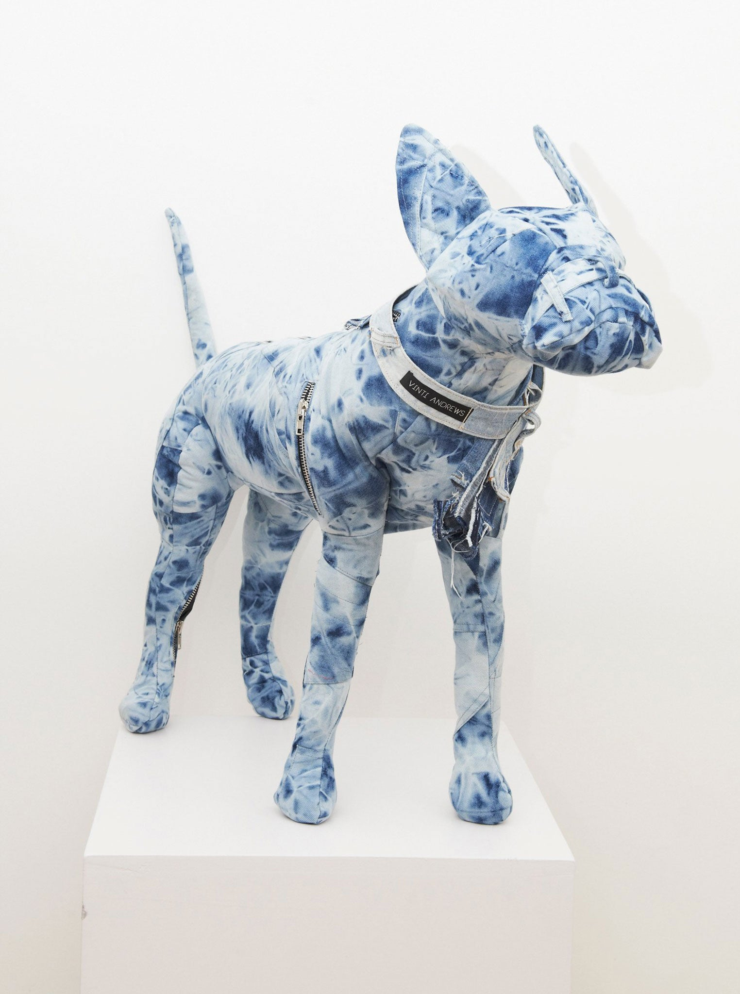 Vinti Andrews Batik Denim Dog