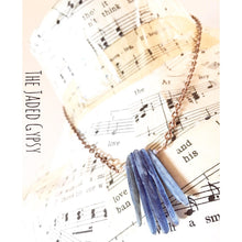 Load image into Gallery viewer, Kyanite Copper Crystal Bar Necklace