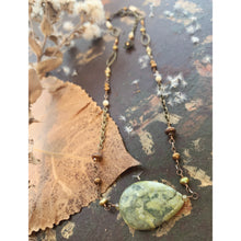 Load image into Gallery viewer, Meta-Rhyolite And Pearls Necklace