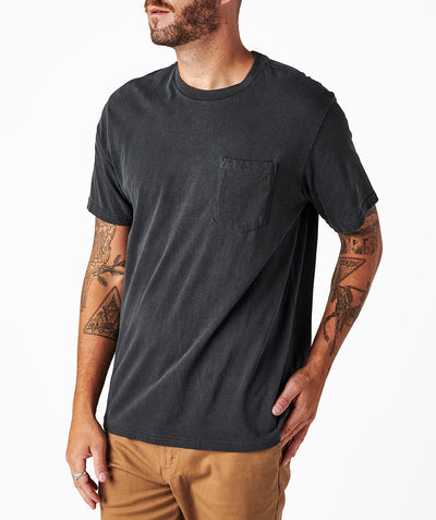 Cornerstone Pocket Tee - Vintage Black