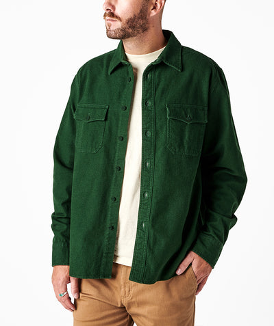 Foundation 2.0 Chamois Shirt - Forest Green