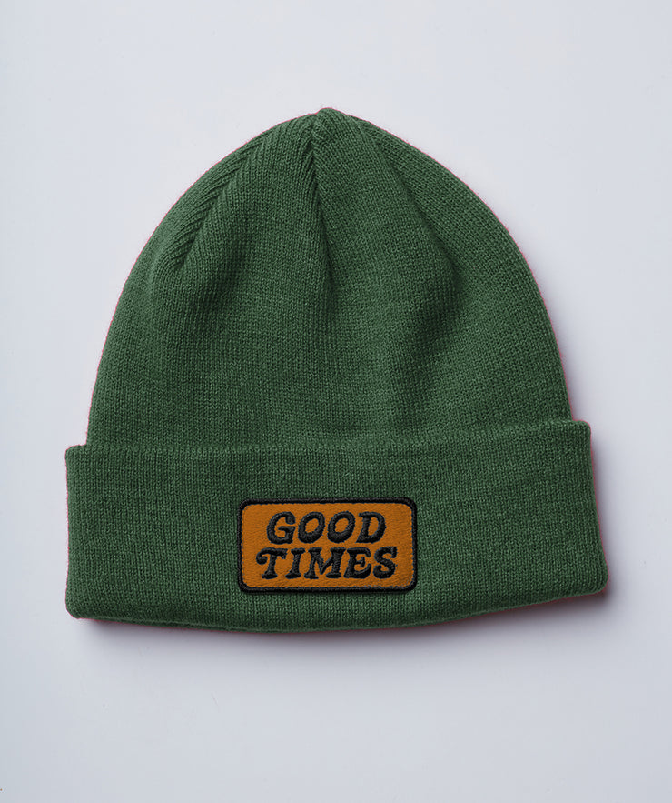 Good Times Beanie - Hunter Green