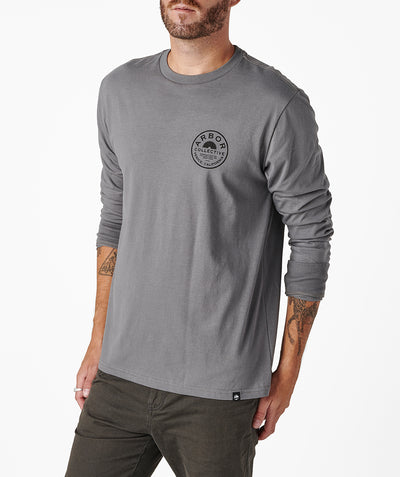 Woodshop LS Tee - Cool Grey