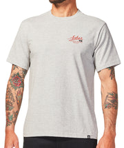 Crossed Tee - Heather Grey
