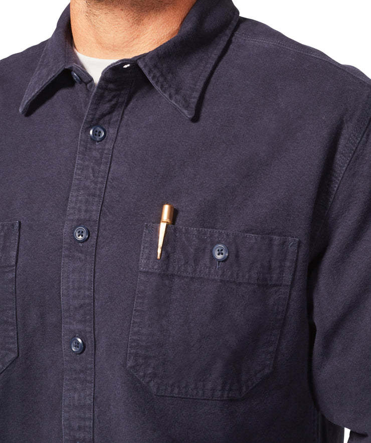 Foundation Chamois Shirt - Indigo