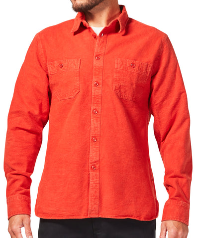 Foundation Chamois Shirt - Rust