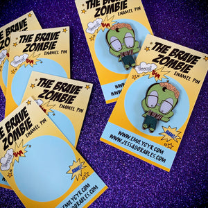 The Brave Zombie Enamel Pin