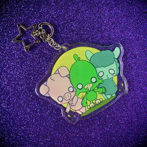 """Fear the CreepyCute"" Acrylic Keychain"