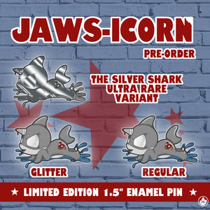 Jaws-icorn Enamel Pin