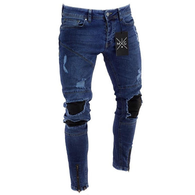 Ripped Jeans Summer New Men Distressed Hip Hop Denim Pants