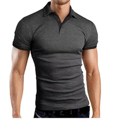 Men Classic Slim Tops Plus Size Causal Shirt Short Sleeve
