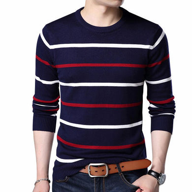 Pullover Men Brand Clothing Autumn Winter Wool Slim fit