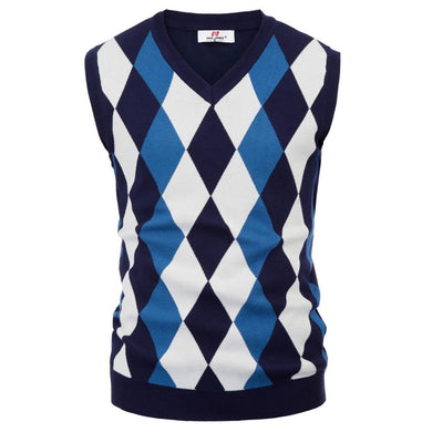 classic England Style Men knitted tops sweater Stylish Sleeveless