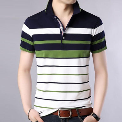 Summer shirt men Striped Classical causal Brand Short Sleeve