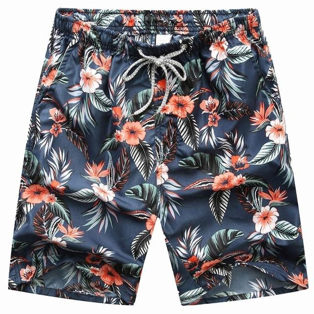 New Seobean Floral Mens Board Shorts Men Beach Swimsuit Shor