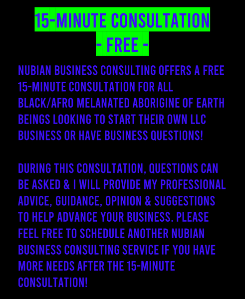 FREE Nubian Business Consulting LLC Consultation