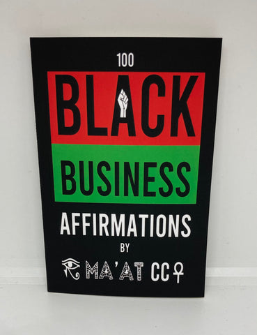 Black Business Affirmations Book ✊🏾🖤