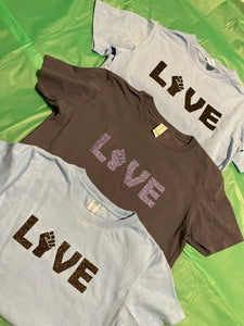 Black Love Organic Cotton XByCC Little People T-Shirts
