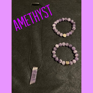 XByCC Amethyst Jewelry Set