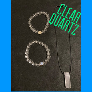 XByCC Clear Quartz Jewelry Set