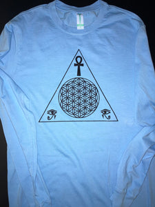 Long Sleeve Pyramid Of Life XByCC Organic Cotton T-Shirt